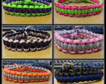 Set of Paracord Puppy Collars for litter or multiple small dogs