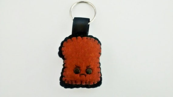 Kawaii Burnt Toast Keyring