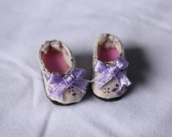 Shoes With Purple Bow For Lati Yellow #SL007