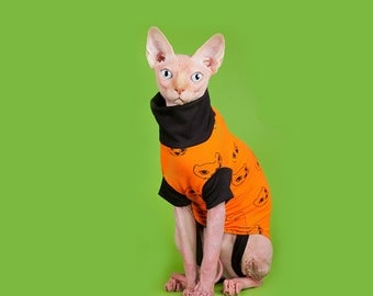 Cats. Sphynx cat clothing. T - shirt for cat. Clothing for cat. Clothing for pet.