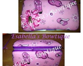 Pink Cowgirl travel wipe case