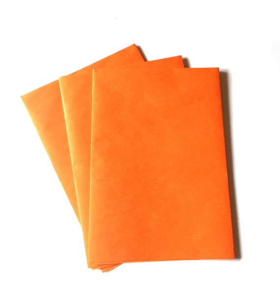 orange wrapping paper