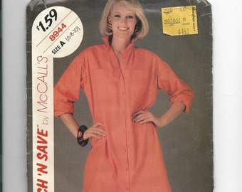 Uncut Stitch and Save 8944 by McCalls Missies Dress Size 6-10
