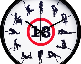 "Kama Sutra +18 unique wall clock (12"")"