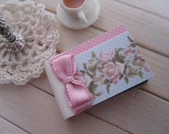 1/12 scale miniature photo album for dollhouse display