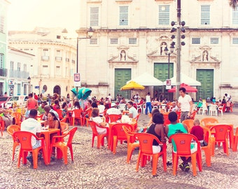 """Brazil Photography, """"The Square"""", Travel Photo Gallery, Wall Decor"""