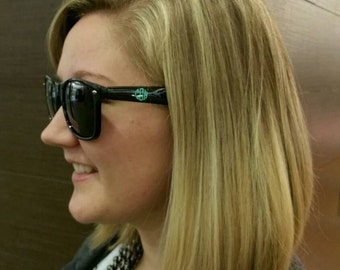 Monogrammed Wayfarer Sunglasses