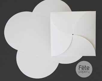 140mm Square Invitation Petal Pocket/Pouchette/Envelope DIY Multiple Colors