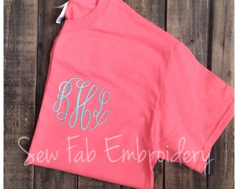 Womens Monogrammed Shirt Personalized Initials