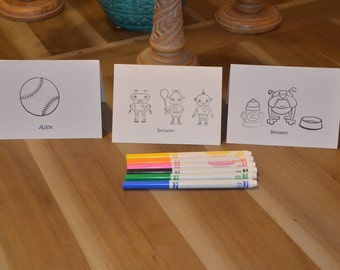Childrens personalized cards