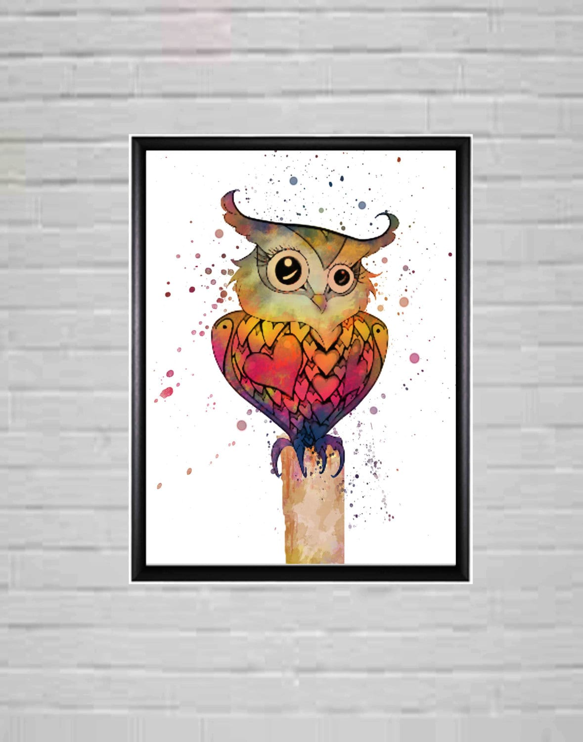 Owl Hoot Watercolour Prints Wall Art Digital Watercolour Art Room Decor Owl Room Decor Ideas Kids
