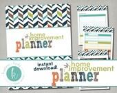 Printable Home Improvement Planner, Instant Digital Download