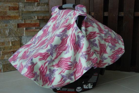 Butterfly Car Seat Cover Fleece Flannel Fun