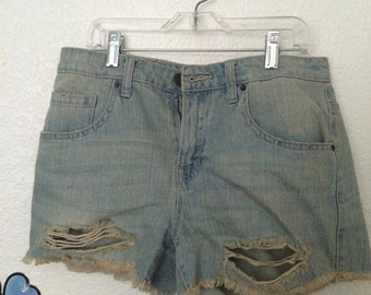 SALE High Waisted / Mid Rise Ripped Shorts