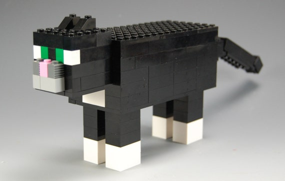 how to make a lego minecraft cat