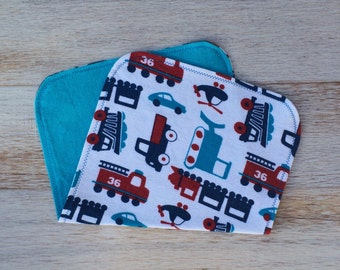 Handmade Baby Boy Flannel Burp Cloths
