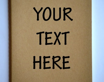Your Text Here Moleskine Cahier Notebook Journal . Lined pages . Large . Feather . Kraft Brown . Gift idea