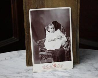 Antique Photograph - Victorian Child - Hidden Mother - Portrait - 1800's - Burkholder Studio - Antique Photography  - Vintage Photography