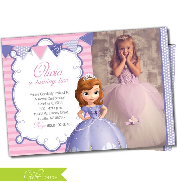Sofia The First Thank You Card Birthday