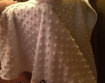 Monogrammed Lovey Animal Blanket