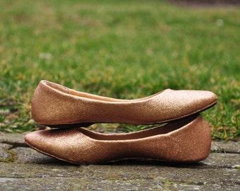Ivory bridal shoes Ivory glitter shoes Champagne wedding shoes Wedding shoes ivory Low heels flats ivory shoes handmade shoes SIZE 6.5