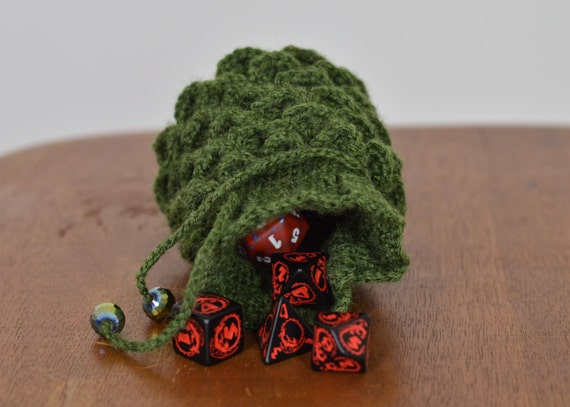 Green Dragon Egg Scaled Dice Bag or Jewelry by ...