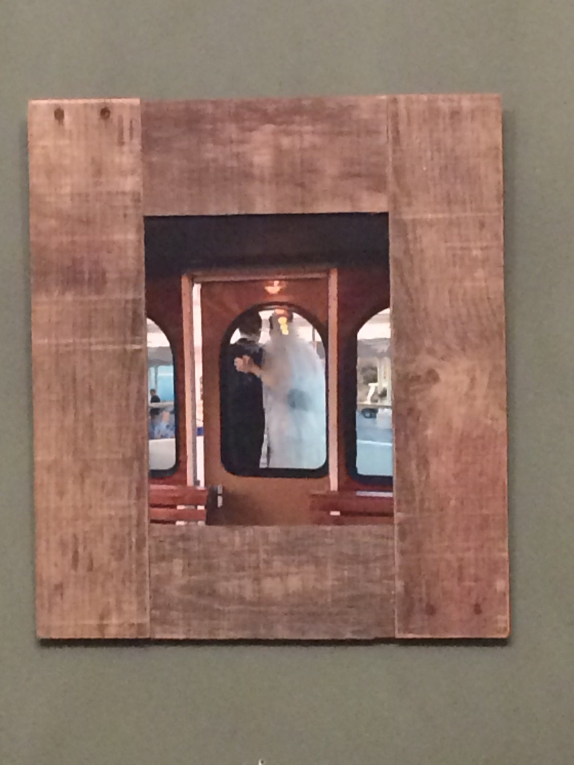 Primitive Picture Frame Rustic Picture Frame Reclaimed Wood