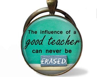 Teacher Pendant Necklace or Keychain