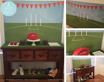 Football Printable Backdrop Printable Photo Booth Backdrop