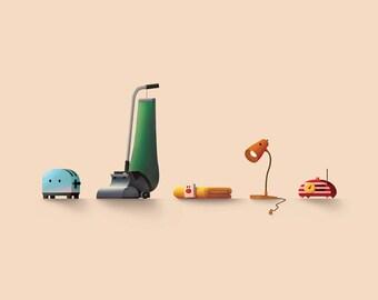 Brave Little Toaster print