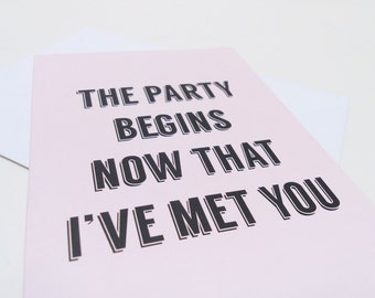 Valentine card, Love greeting card, Party friendship card