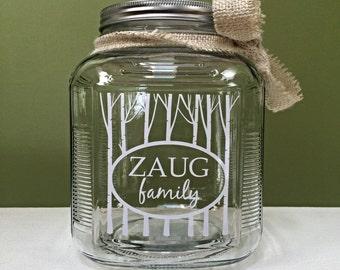 Personalized jar-wedding gift-housewarming gift