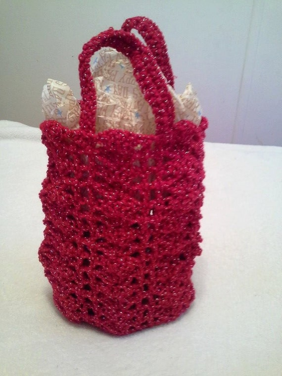 Free Crochet Patterns For Christmas Gift Bags : Crochet Christmas Gift Bags