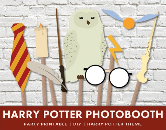 Harry Potter Photobooth Props Wizard By ThePaperMouseFactory
