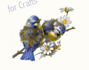 spring clip art - instant download - bird png - for crafts - spring - sapphire blue - commercial uses allowed - vintage - realistic birds