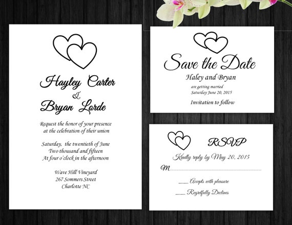 items similar to wedding invitation rsvp card save the With wedding invitations with rsvp and save the date