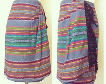 Vtg Liz Wear Southwestern Skirt
