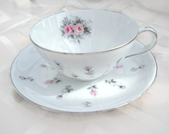 Vintage Harmony House Rosebud Teacup and Saucer