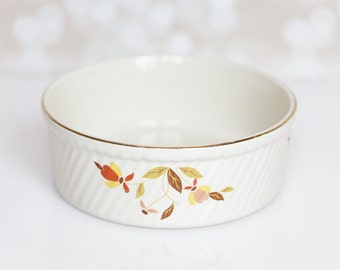 Jewel Tea Autumn Leaf by Hall Pottery baking, souffle, casserole dish