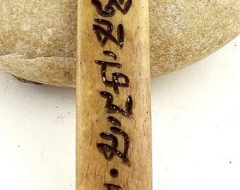 NECKLACE Tibetan MANTRA chenrezi jewel Buddhist wn3.2