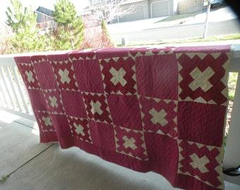 Primitive and Rustic Pre 1880s Antique Quilt*Feb special*160.00reg,178.00***