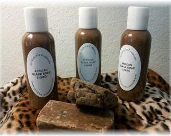African Black Soap -  3 ounce liquid body wash