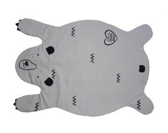Bear blanket in grey/gray kids play mat, rug