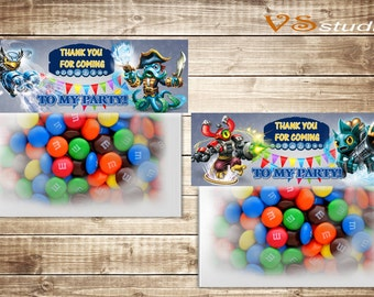 Skylanders Favor Bag Toppers, INSTANT DOWNLOAD, PDF