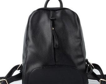 Women vintage backpack casual backpack ladies school bag Genuine Leather