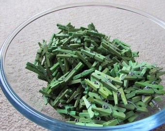 Assorted Packs of 25mm Mini Pegs Green