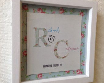 Engagement / wedding gift with couples initials