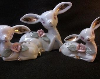 Set of Three Porcelain Deer (342)