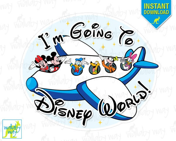 I M Going To Disney World Mickey Airplane Printable Iron