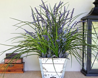 Rustic Centerpiece, Artificial Flower Arrangement, Artificial Plant, Lavender Arrangement, Country Cottage Decor, Farmhouse Floral Decor